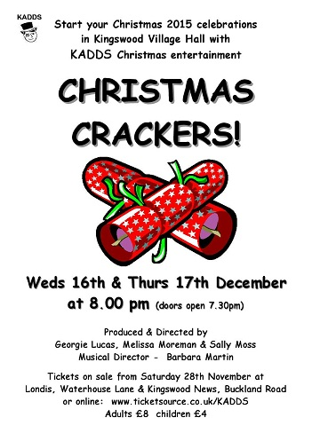 Poster for Christmas Crackers Dec 2015-2